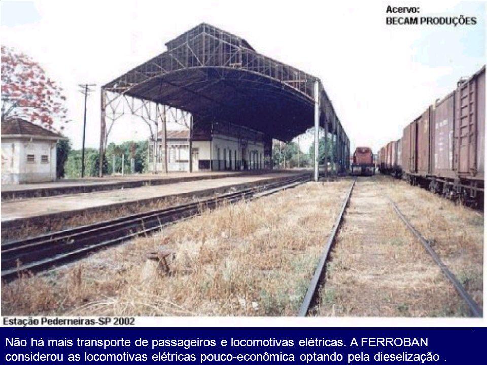 Não há mais transporte de passageiros e locomotivas elétricas