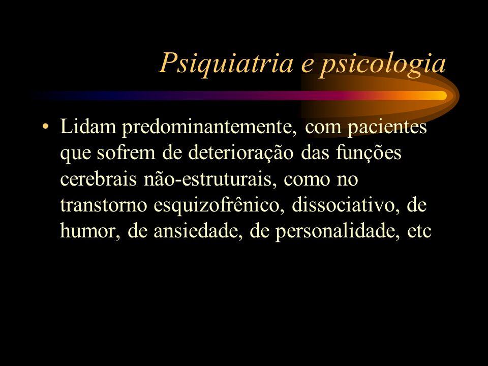 Psiquiatria e psicologia