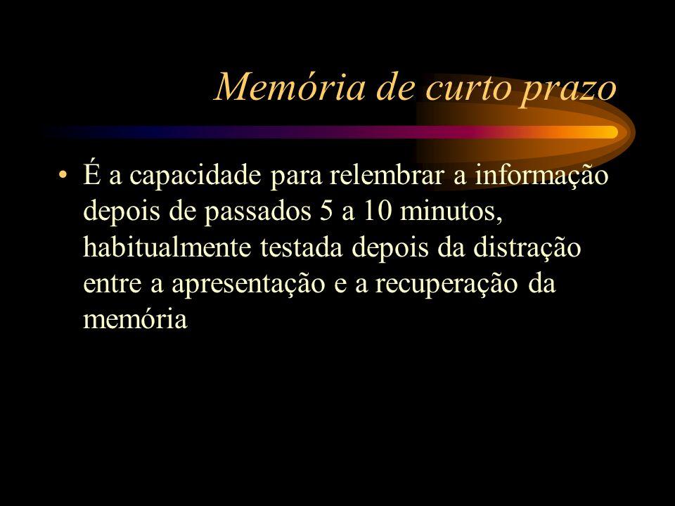 Memória de curto prazo