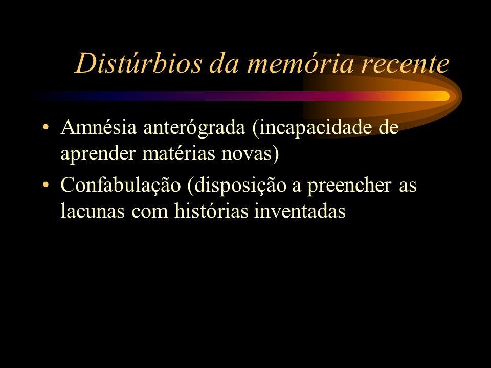 Distúrbios da memória recente