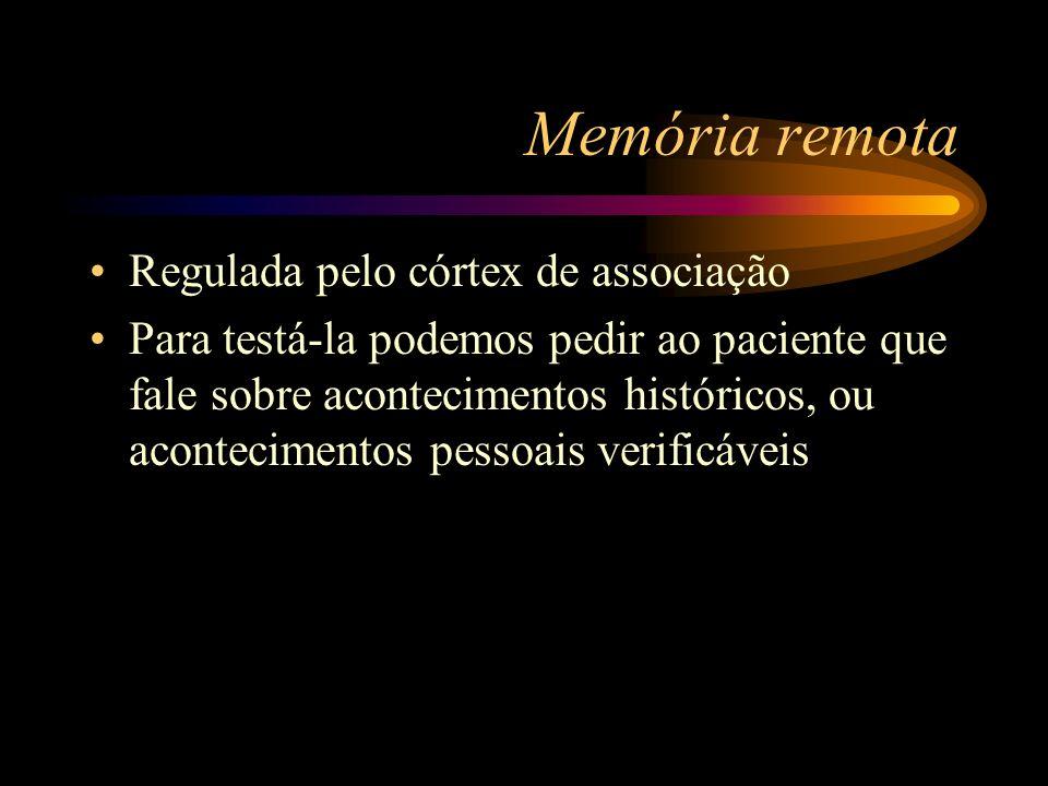 Memória remota Regulada pelo córtex de associação