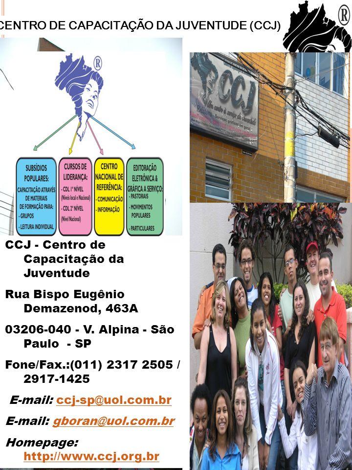 CENTRO DE CAPACITAÇÃO DA JUVENTUDE (CCJ)