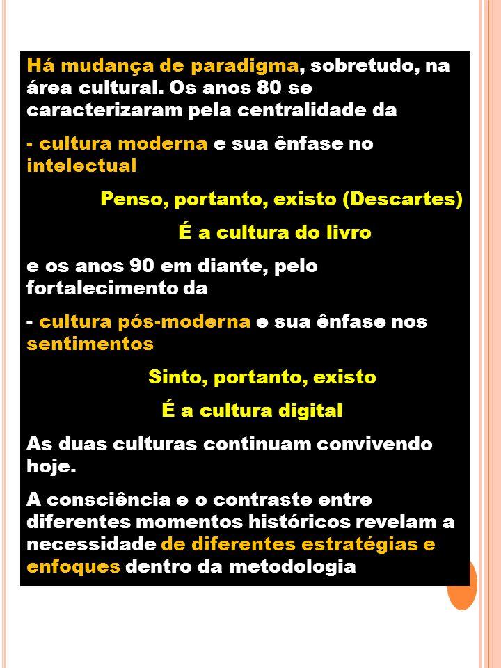 Há mudança de paradigma, sobretudo, na área cultural