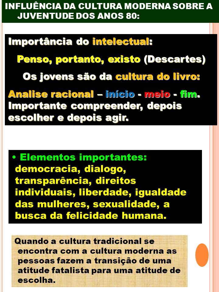 Penso, portanto, existo (Descartes) Os jovens são da cultura do livro: