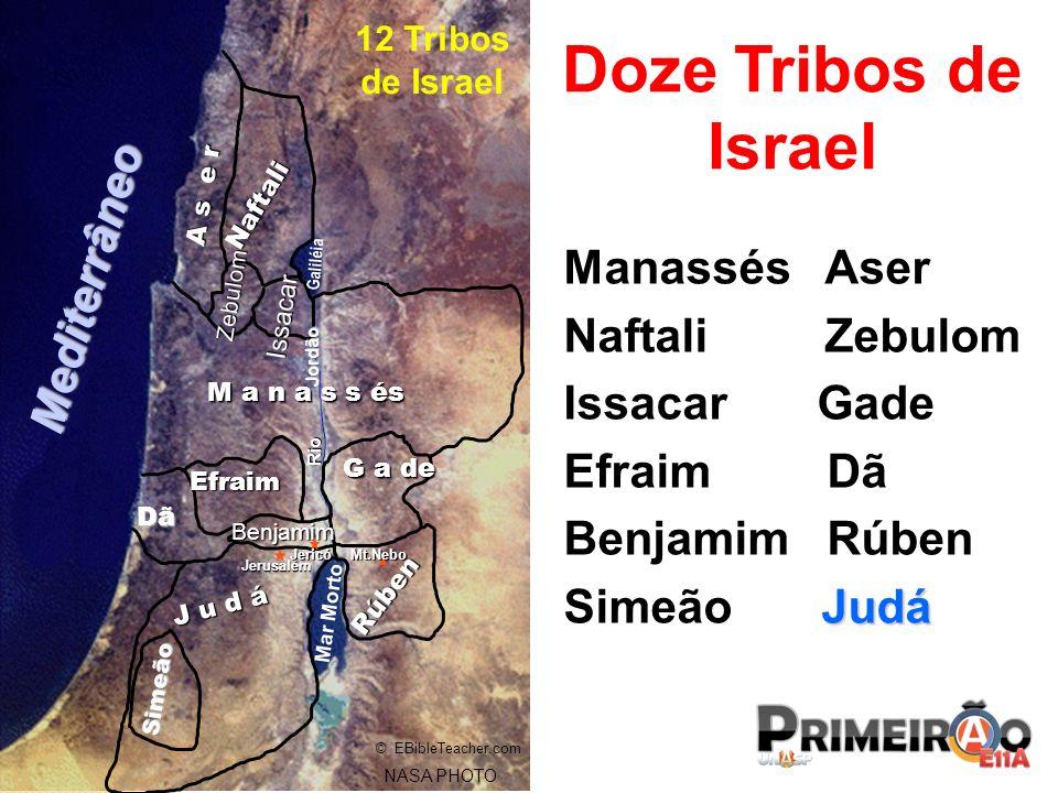 Doze Tribos de Israel Mediterrâneo Manassés Aser Naftali Zebulom