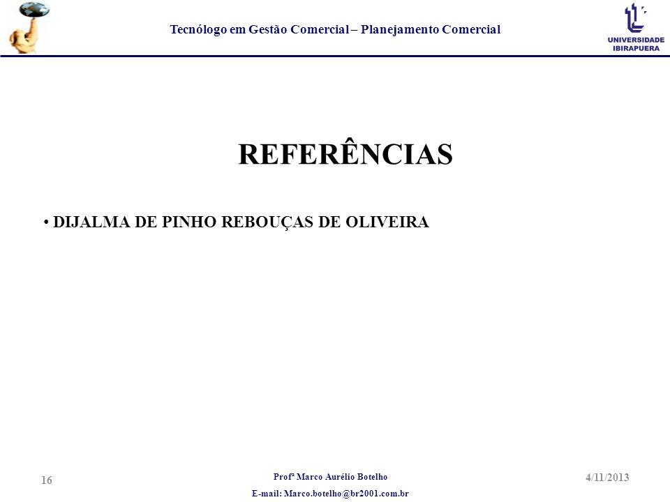 REFERÊNCIAS DIJALMA DE PINHO REBOUÇAS DE OLIVEIRA 23/03/2017