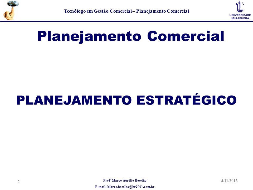 Planejamento Comercial PLANEJAMENTO ESTRATÉGICO
