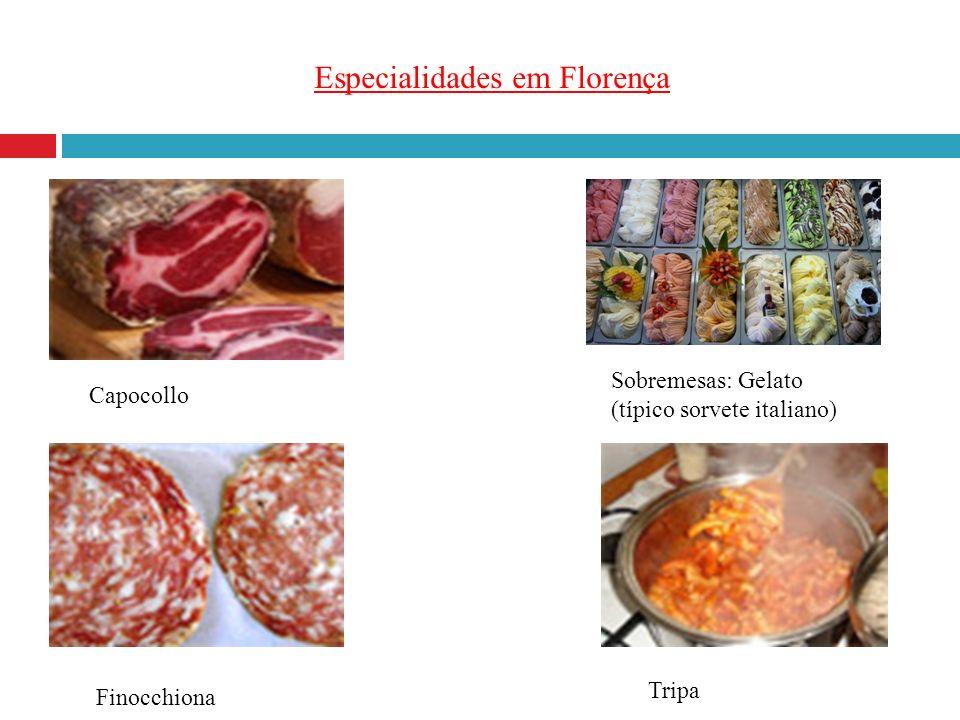 Especialidades em Florença