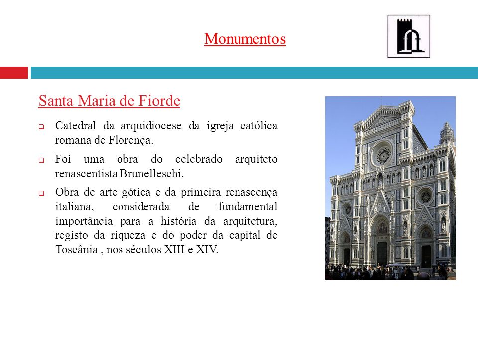 Monumentos Santa Maria de Fiorde