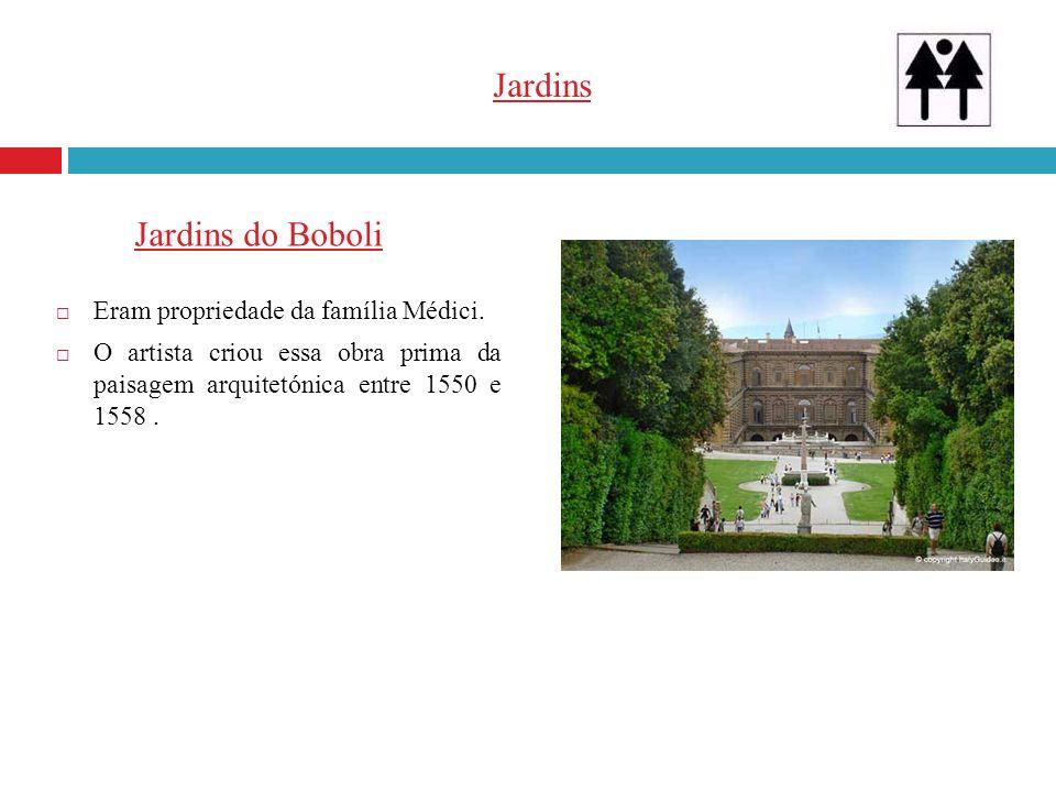 Jardins Jardins do Boboli Eram propriedade da família Médici.