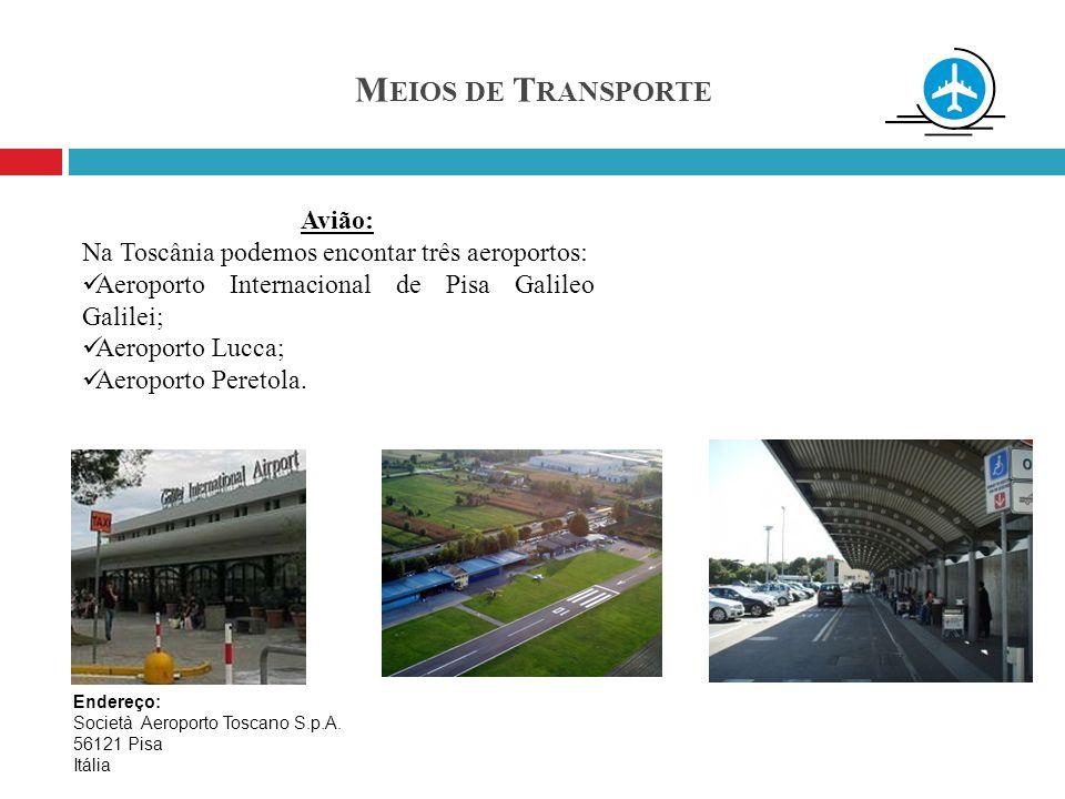 Meios de Transporte Avião: