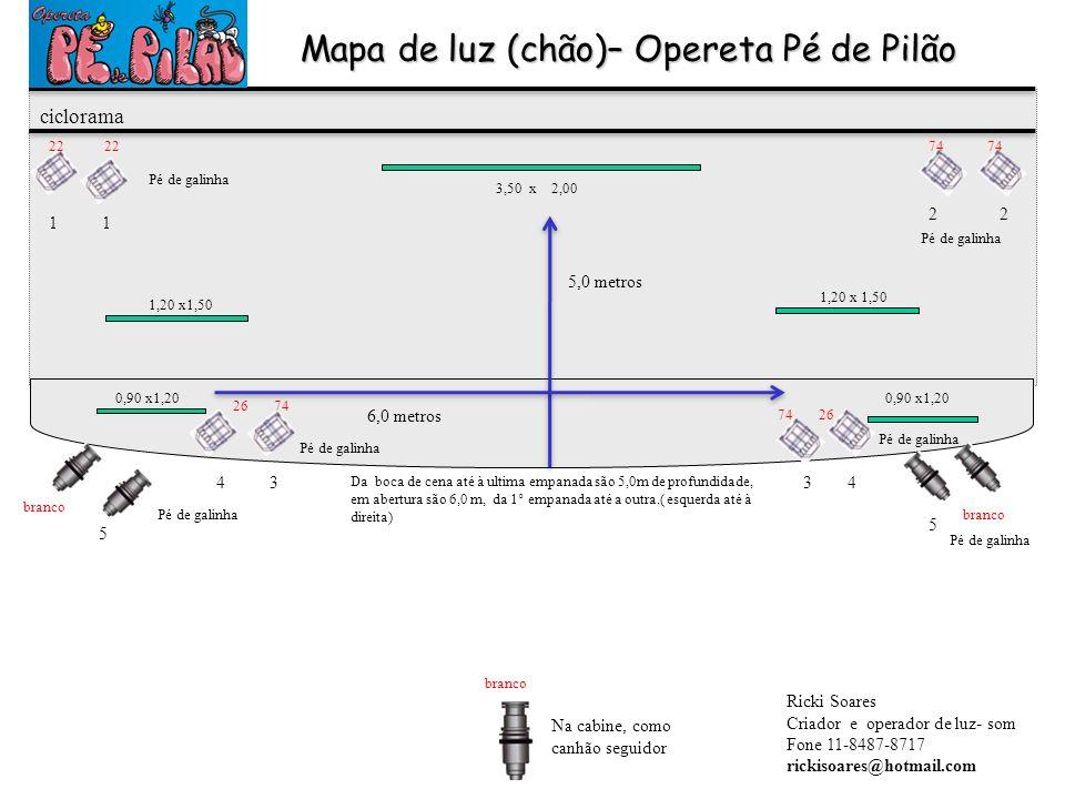 Mapa de luz (chão)– Opereta Pé de Pilão