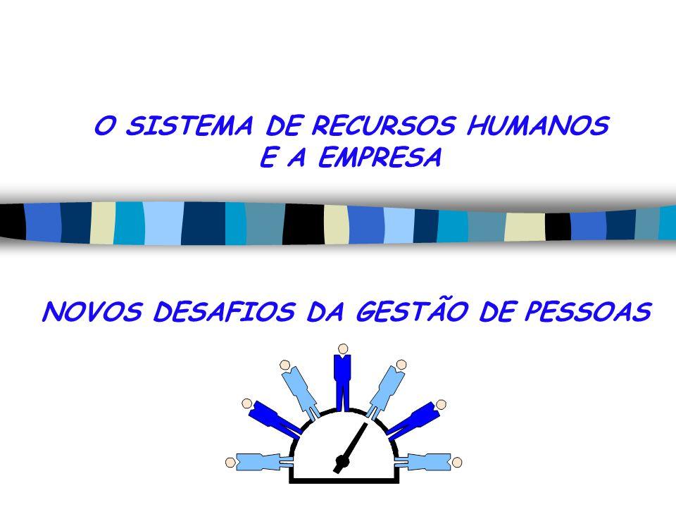 O SISTEMA DE RECURSOS HUMANOS E A EMPRESA