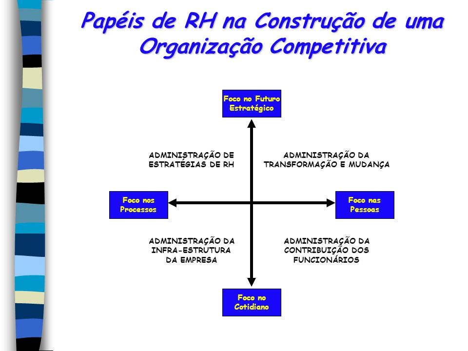 Papéis de RH na Construção de uma Organização Competitiva
