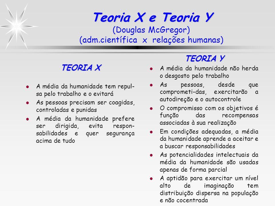 Teoria X e Teoria Y (Douglas McGregor) (adm
