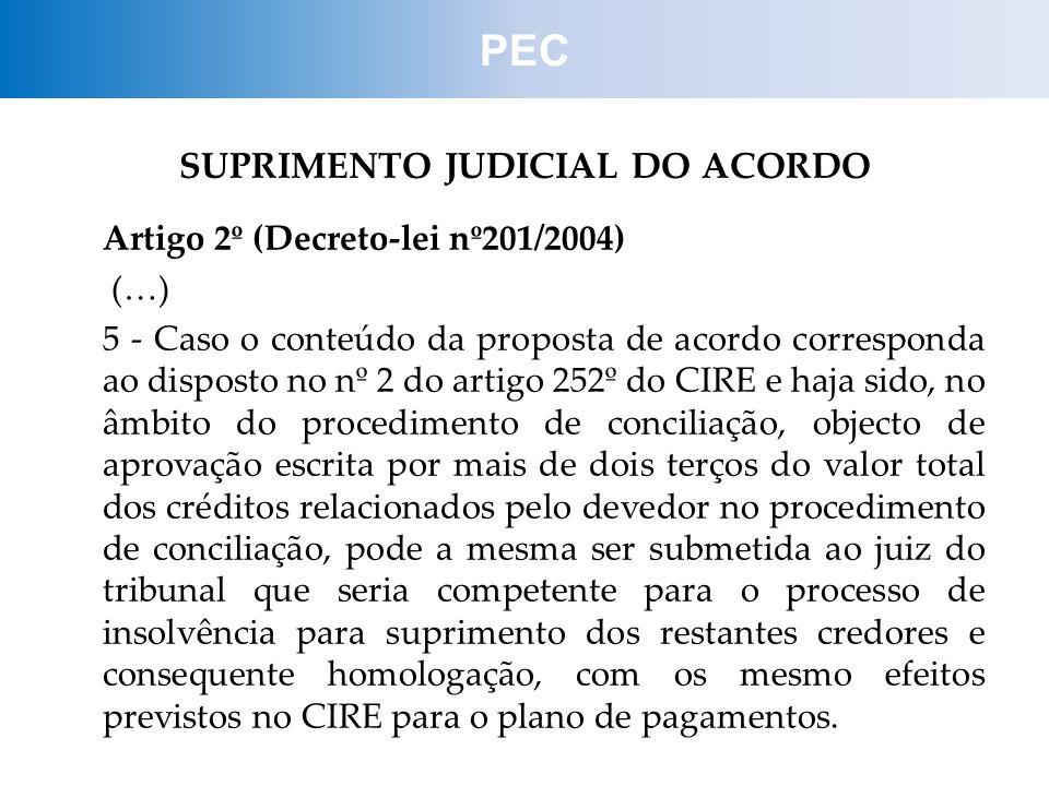 SUPRIMENTO JUDICIAL DO ACORDO
