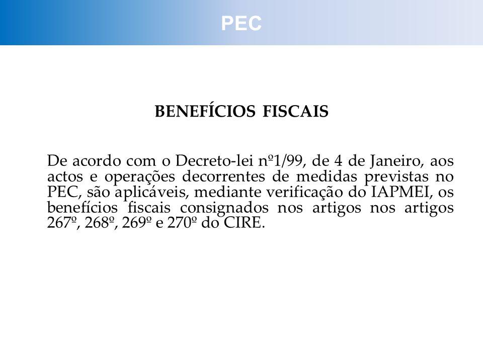 PEC BENEFÍCIOS FISCAIS