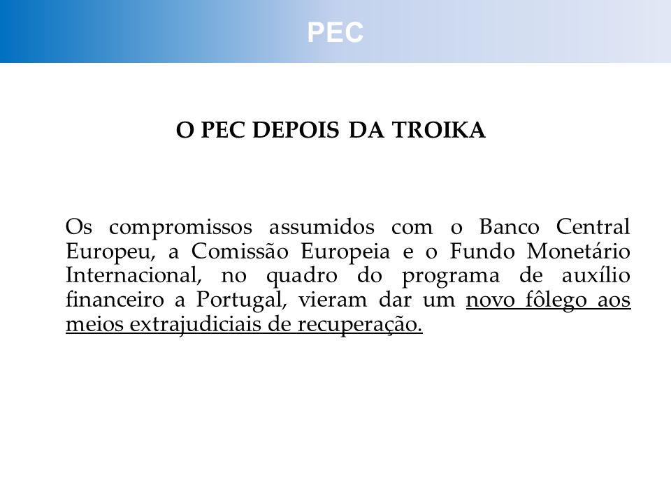 PEC O PEC DEPOIS DA TROIKA