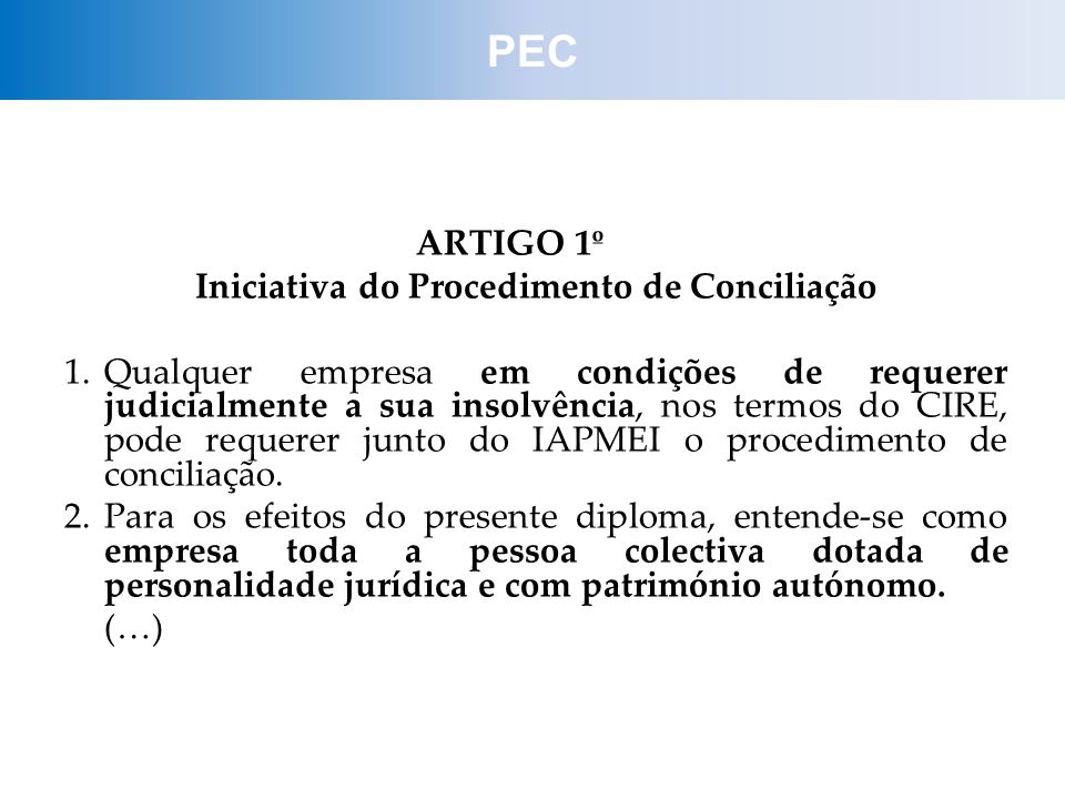 Iniciativa do Procedimento de Conciliação