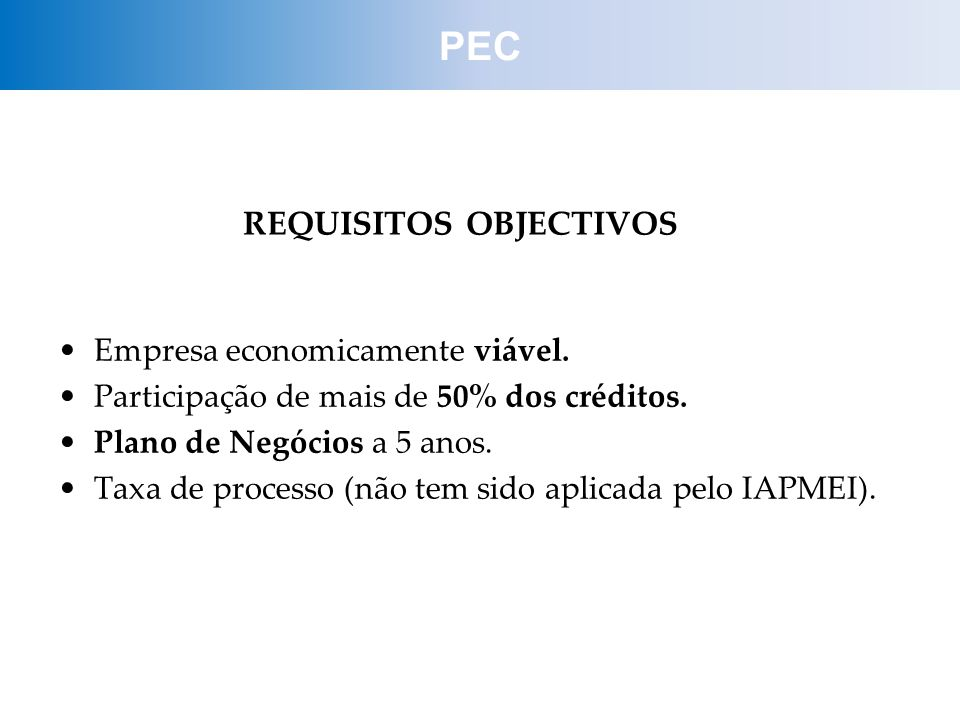REQUISITOS OBJECTIVOS