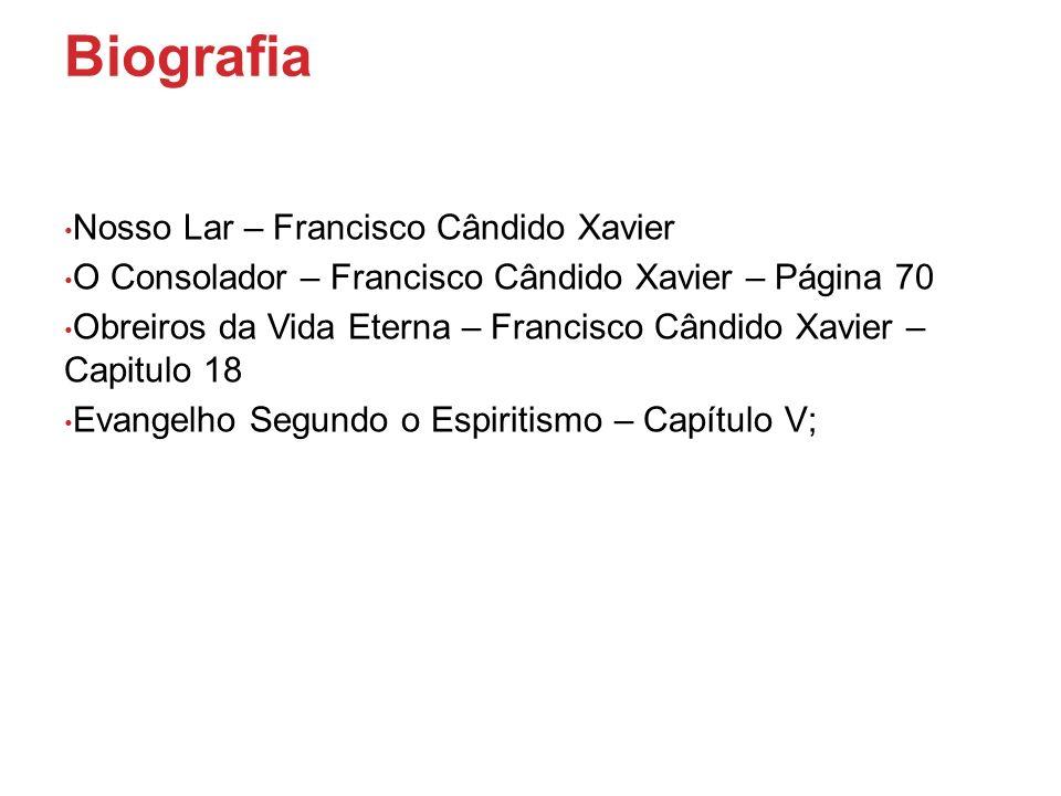 Biografia Nosso Lar – Francisco Cândido Xavier