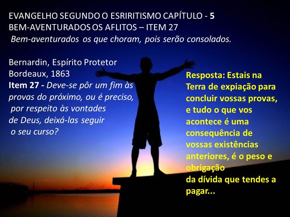 EVANGELHO SEGUNDO O ESRIRITISMO CAPÍTULO - 5