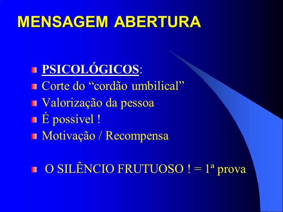 MENSAGEM ABERTURA PSICOLÓGICOS: Corte do cordão umbilical