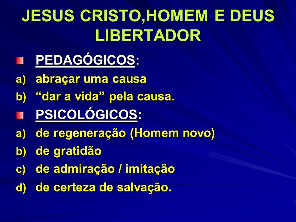 JESUS CRISTO,HOMEM E DEUS LIBERTADOR