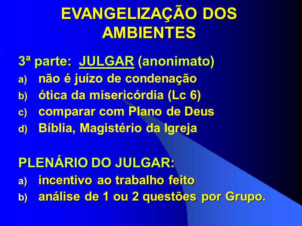 EVANGELIZAÇÃO DOS AMBIENTES
