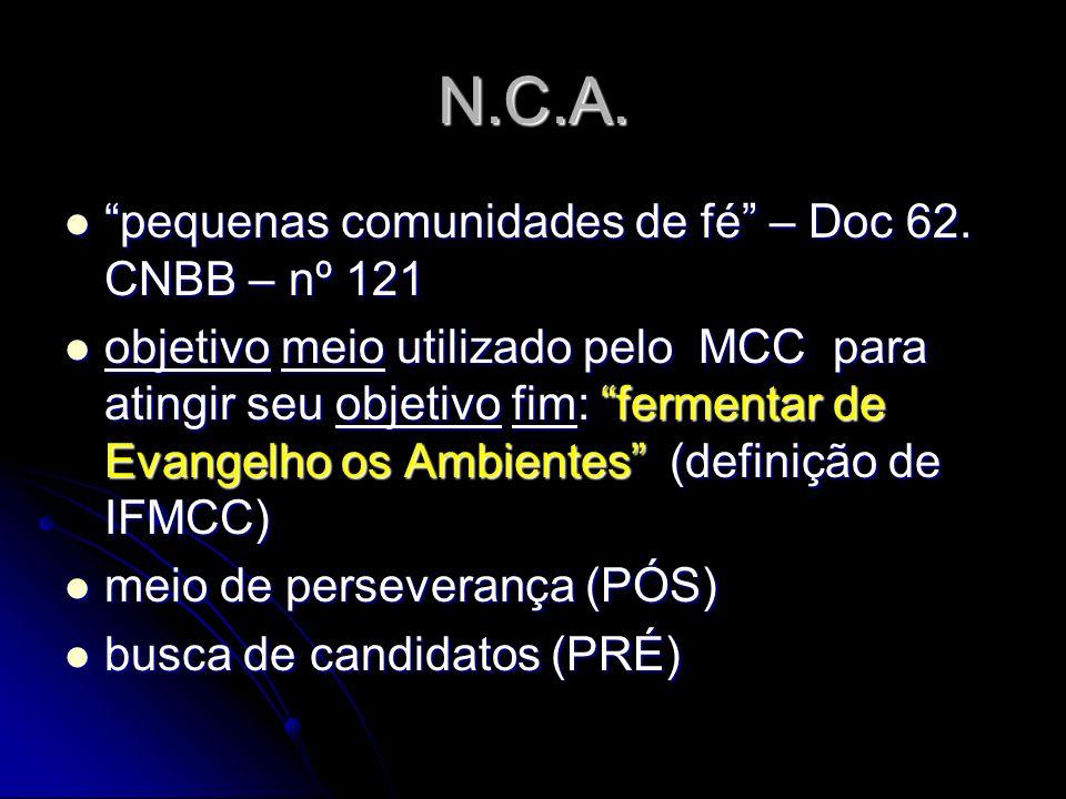 N.C.A. pequenas comunidades de fé – Doc 62. CNBB – nº 121