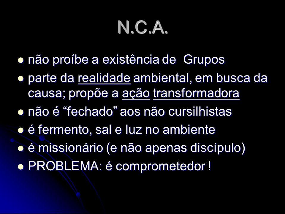 N.C.A. não proíbe a existência de Grupos
