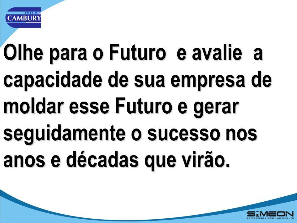 Olhe para o Futuro e avalie a capacidade de sua empresa de moldar esse Futuro e gerar seguidamente o sucesso nos anos e décadas que virão.