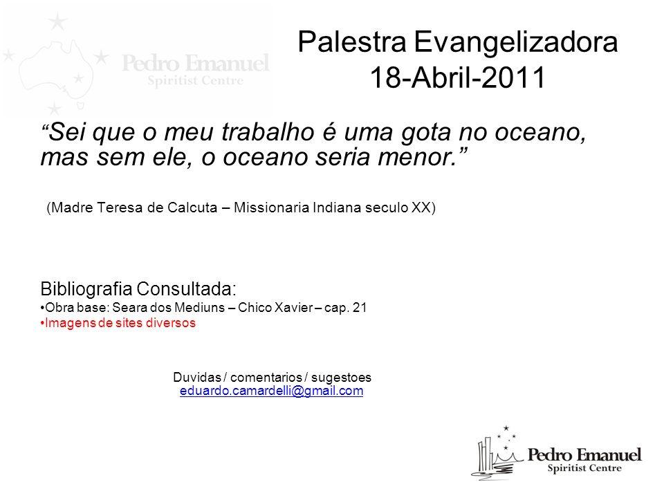 Palestra Evangelizadora 18-Abril-2011
