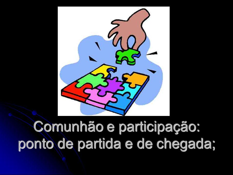 Comunhão e participação: ponto de partida e de chegada;