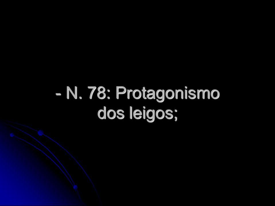 N. 78: Protagonismo dos leigos;