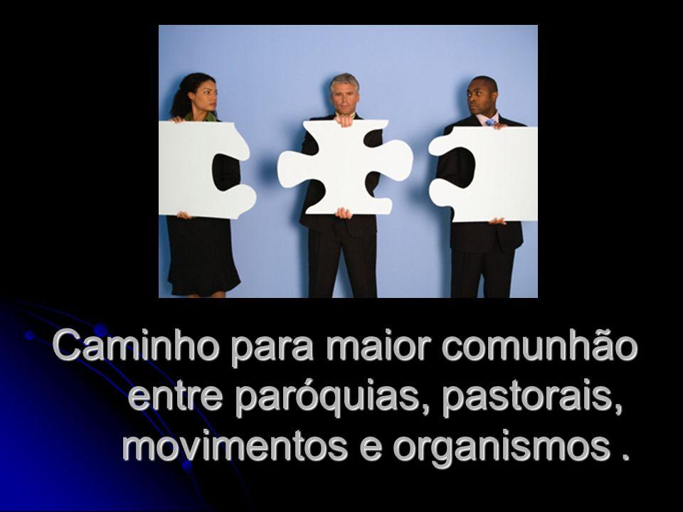 Caminho para maior comunhão entre paróquias, pastorais, movimentos e organismos .
