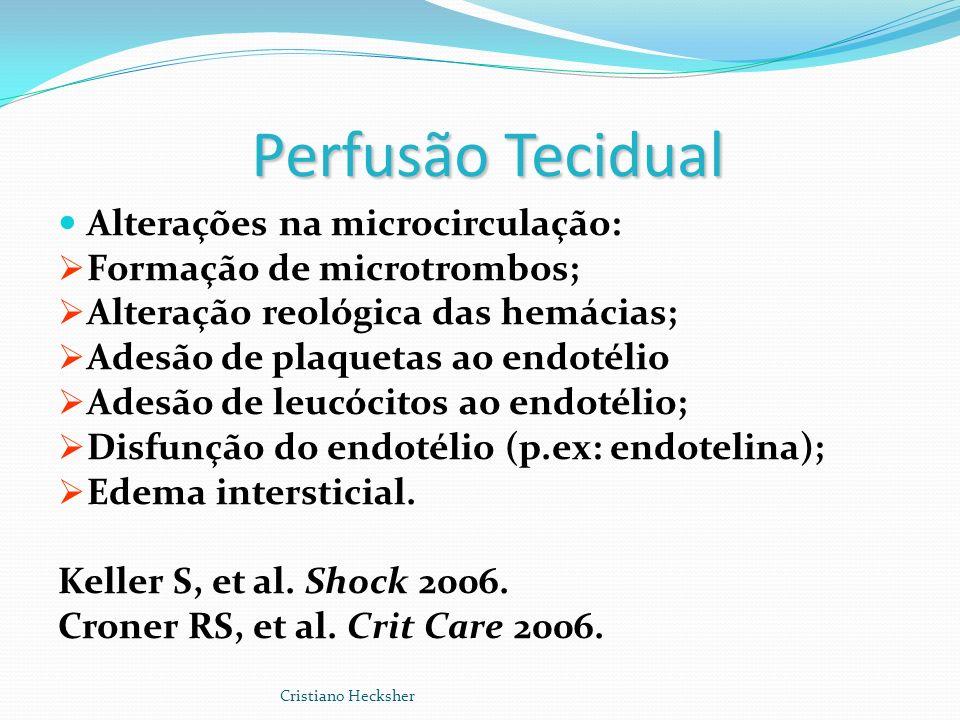 Perfusão Tecidual Alterações na microcirculação: