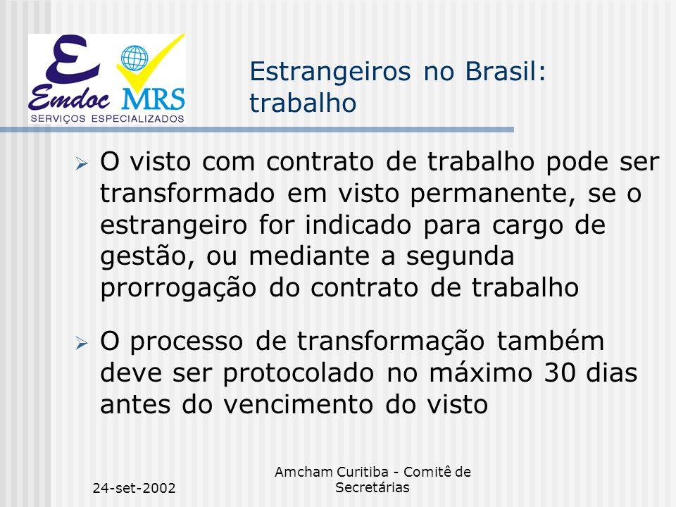 Estrangeiros no Brasil: trabalho
