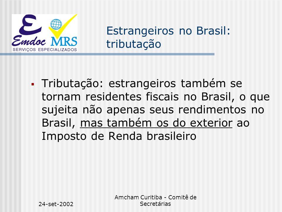 Estrangeiros no Brasil: tributação