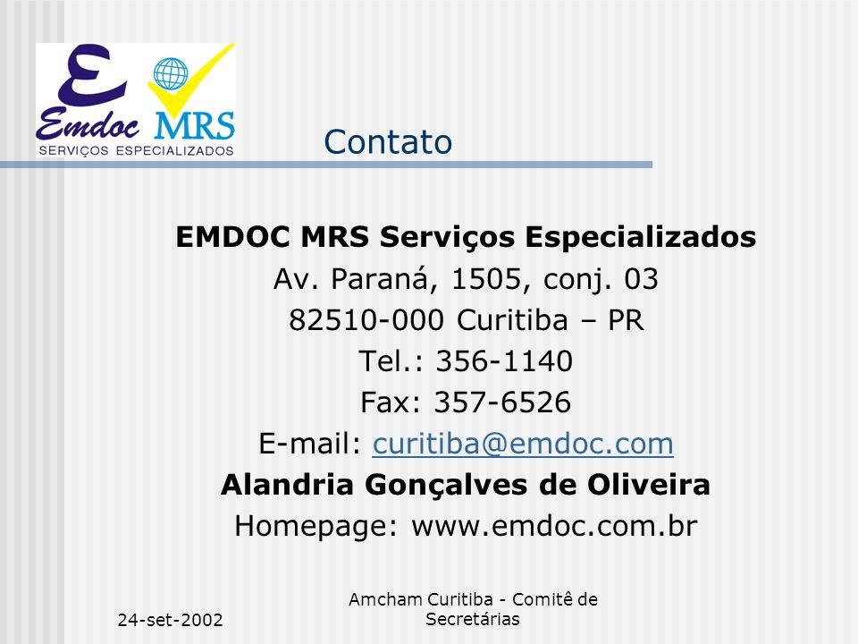 EMDOC MRS Serviços Especializados Alandria Gonçalves de Oliveira