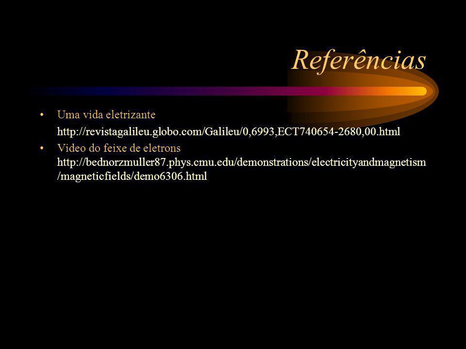 Referências Uma vida eletrizante