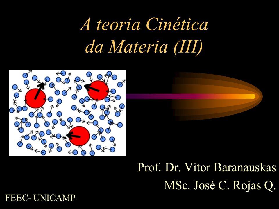 A teoria Cinética da Materia (III)