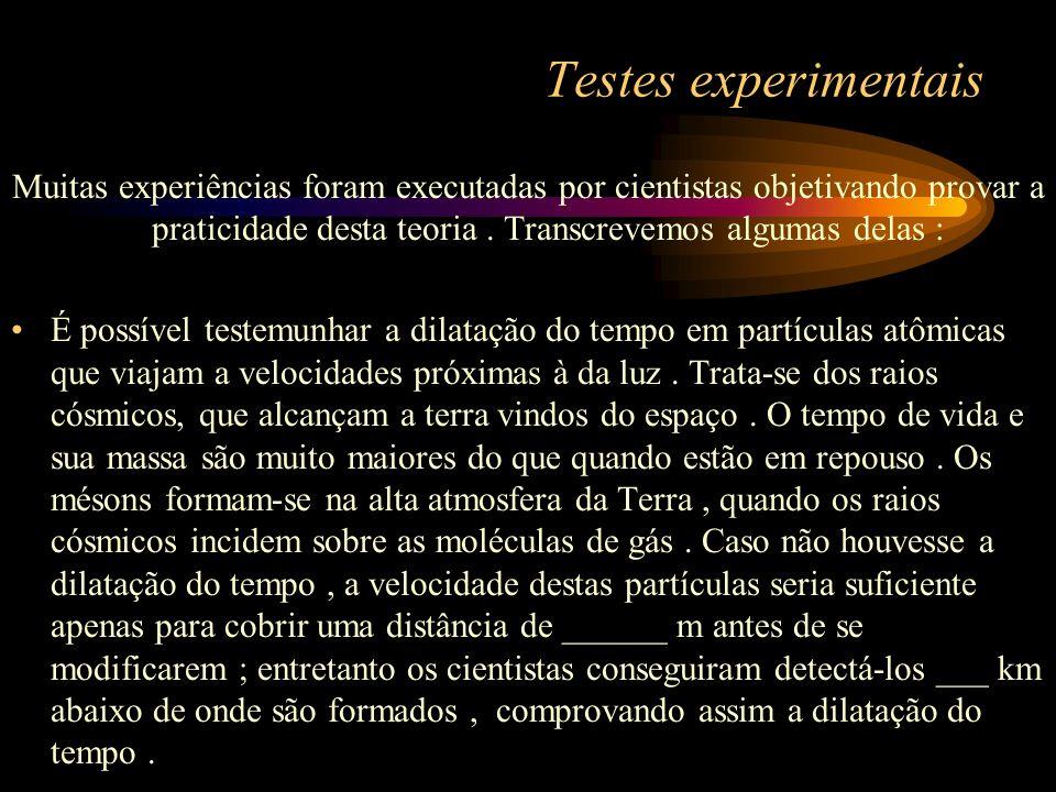 Testes experimentais