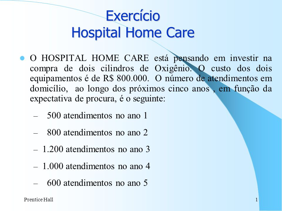 Exercício Hospital Home Care