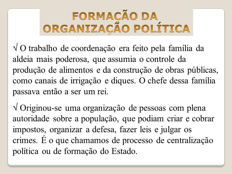 FORMAÇÃO DA ORGANIZAÇÃO POLÍTICA