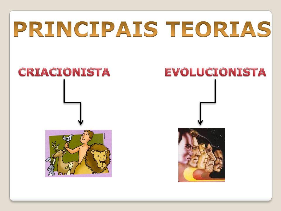 PRINCIPAIS TEORIAS CRIACIONISTA EVOLUCIONISTA