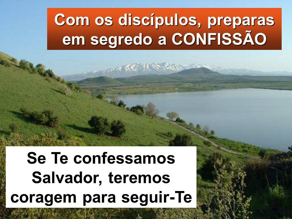 Com os discípulos, preparas em segredo a CONFISSÃO