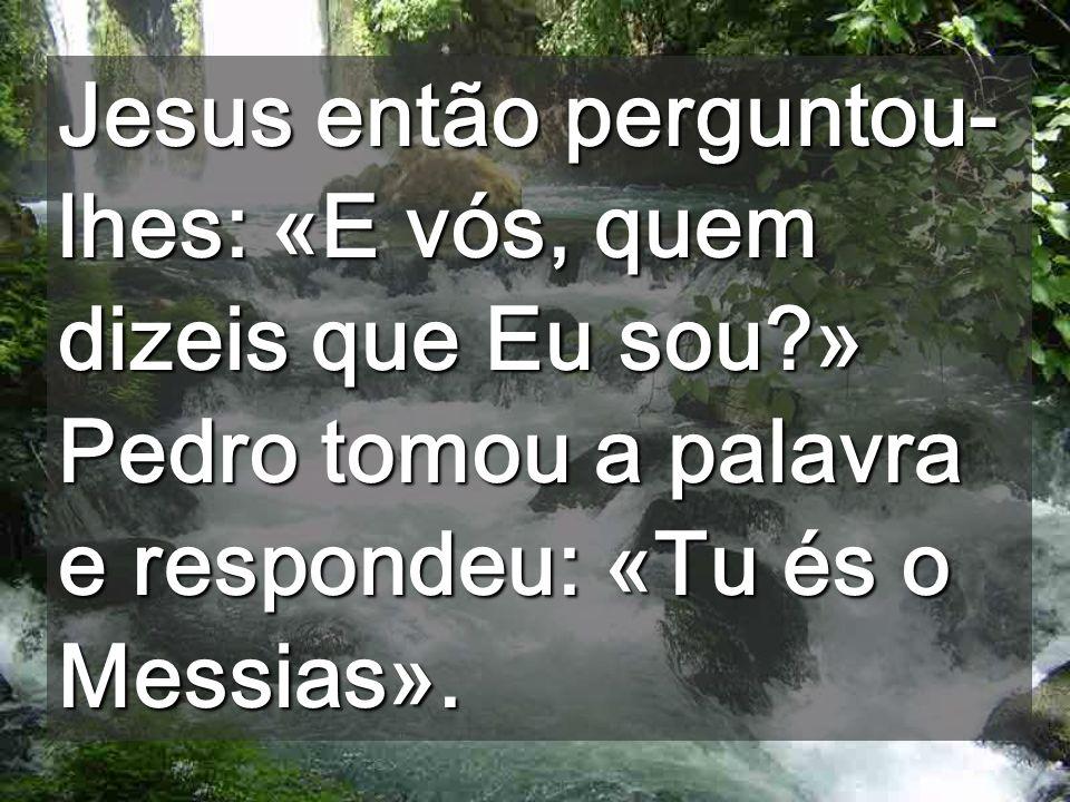 Jesus então perguntou-lhes: «E vós, quem dizeis que Eu sou