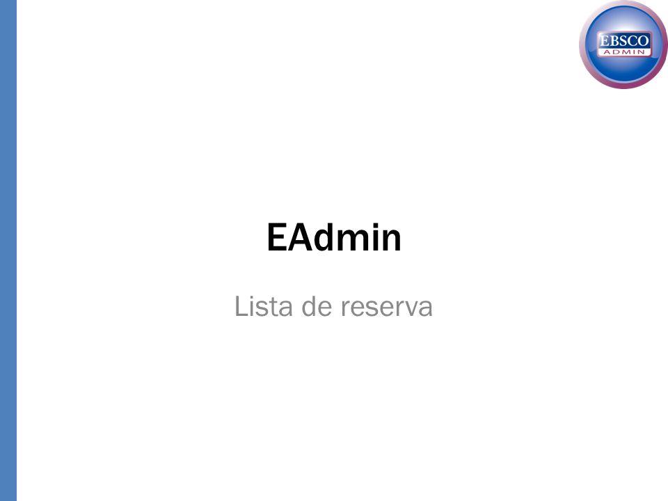 EAdmin Lista de reserva