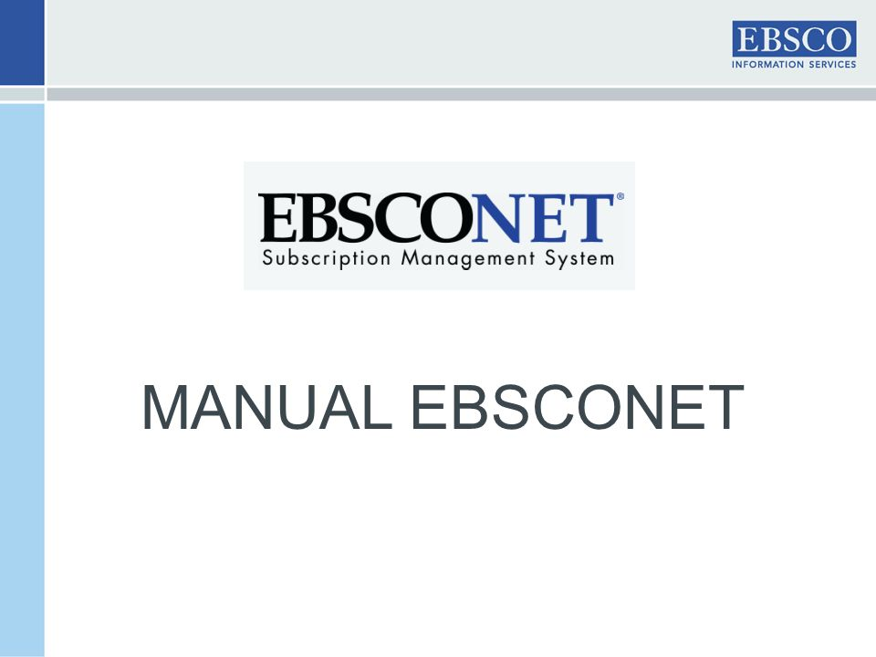 MANUAL EBSCONET
